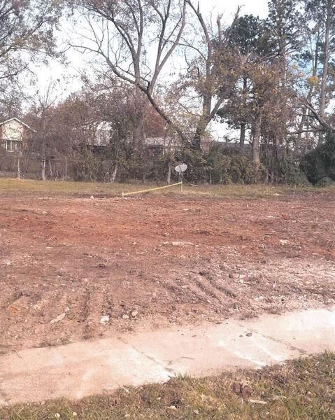cleared ground for rebuilding home